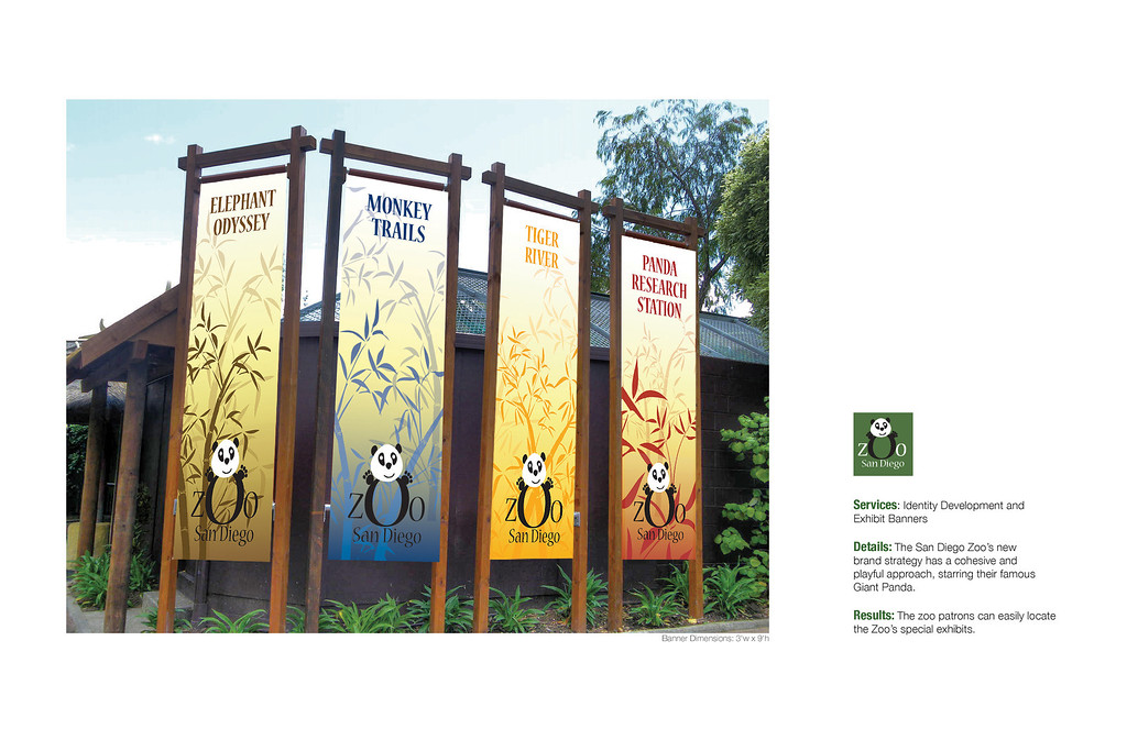 Brand Identity and Banners for the San Diego Zoo