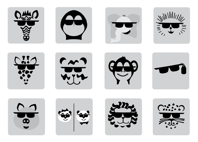 Zoo Animal icons for San Diego Zoo Project