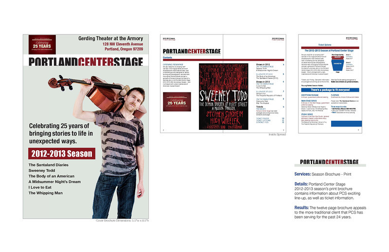 2012-2013 season brochure print