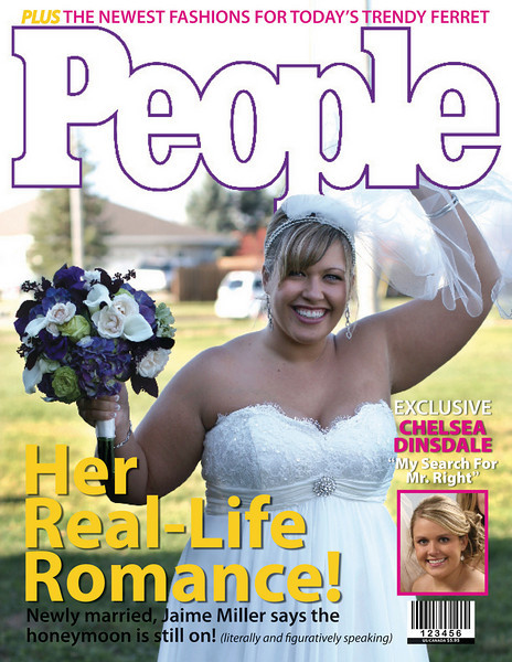 Purely for fun, we got my sister a subscription to PEOPLE magazine for Christmas and decided to put a custom wrap around the first issue.