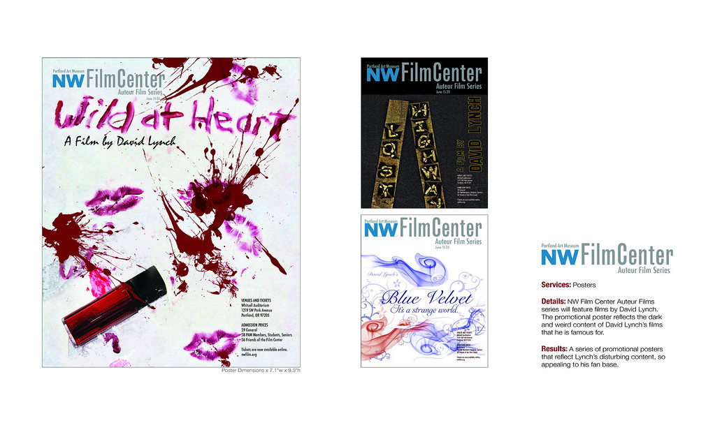 Promotional Posters for David Lynch Film Festival