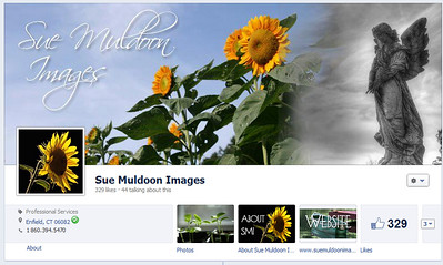 Sue Muldoon Images Timeline cover photo and tabs with custom icons. www.facebook.com/suemuldoonimages