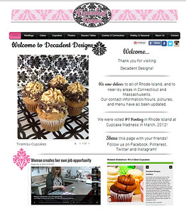 Website design: www.decadentdesignsbyjean.com Destop and Mobile design. Some features: online form to order cake tasting, galleries, PDF downloads. Set-up so client can manage. On-going phone and email support.