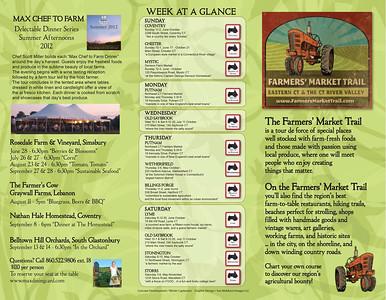 Brochure outside Farmers Market Trail www.farmersmarkettrail.com