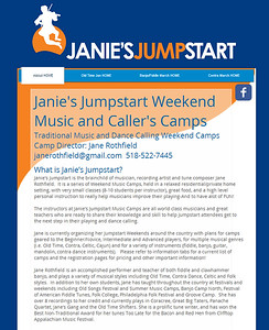 Website design www.janiesjumpstart.com. Features on-line registration form, data is collected as PDF, CSV or Excel files. Online payment features. Website owner maintains it after it is set up.