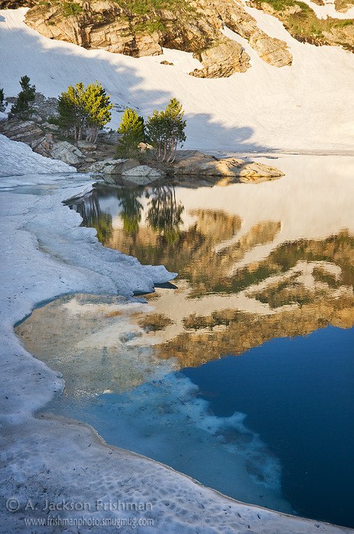 Morning light at Lamoille Lake in Nevada's Ruby Mountains, July 2011.