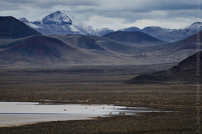 Winter day at Lunar Lake playa, Pancake Range, Nevada, March 2014.