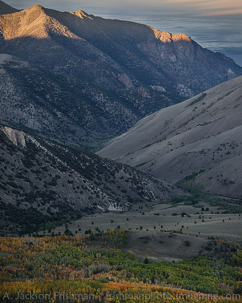 Early fall in the headwaters of North Twin River, Arc Dome Wilderness, Toiyabe Range, Nevada, September 2013.