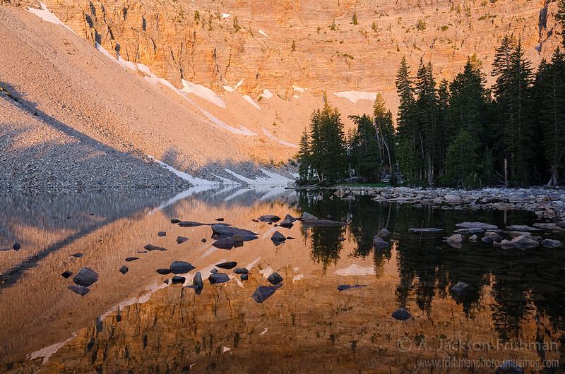 Dawn in Baker Lake Cirque, Great Basin National Park, Nevada, July 2011.