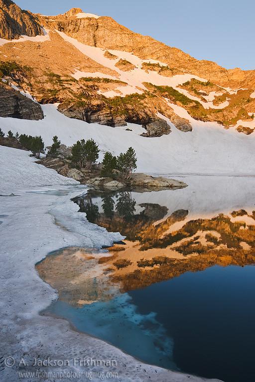Daybreak at Lamoille Lake, Ruby Mountains, Nevada, July 2011.