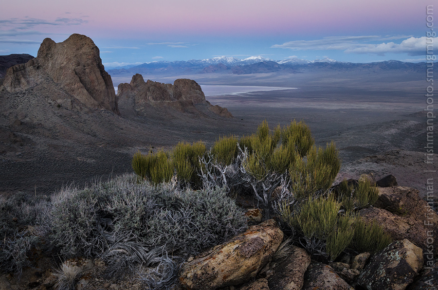 Evening in the Reveille Range, Nye County, Nevada, March 2014.