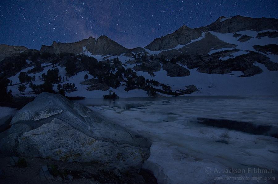 Starlight on Lamoille Lake, Ruby Mountains, Nevada, July 2011.