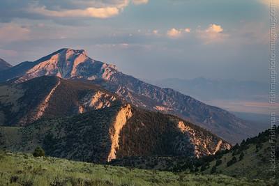 Evening in the Egan Range, White Pine County, Nevada, August 2016.
