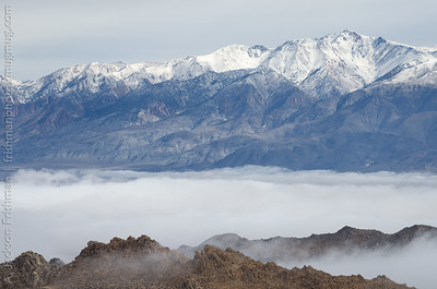 White Mountain Peak above a fog-shrouded Owens Valley, January 2016.