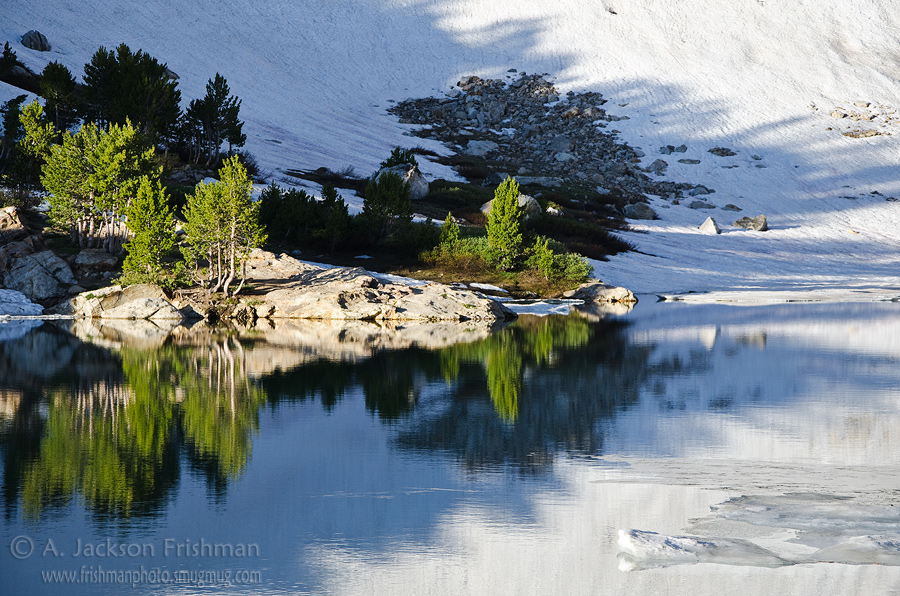 Winter lingers late at Lamoille Lake in Nevada's Ruby Mountains, July 2011.