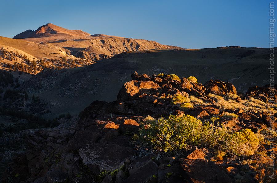 Morning sun on White Mountain Peak, California, August 2013.