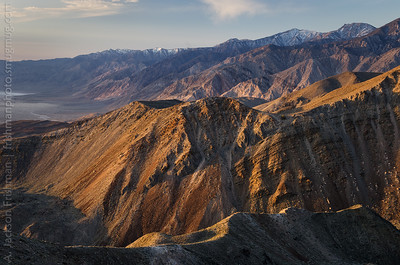 Sunrise on the Inyo Mountains and Saline, Valley, April 2014.