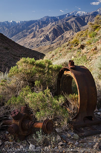 Old mining machinery, Inyo Mountains, California, April 2014.