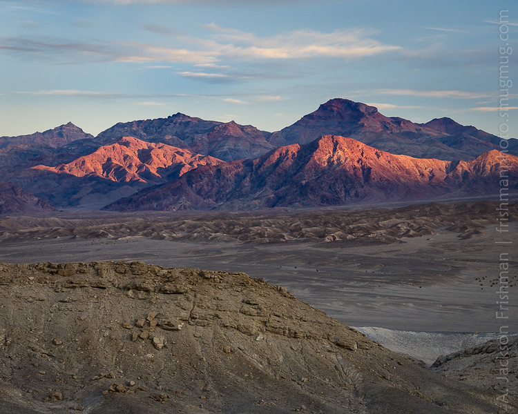 Sunrise on the Grapevine Mountains, Death Valley, California, December 2015.