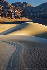 Morning light on the Eureka Dunes and Last Chance Range, Death Valley National Park, California, December 2013.