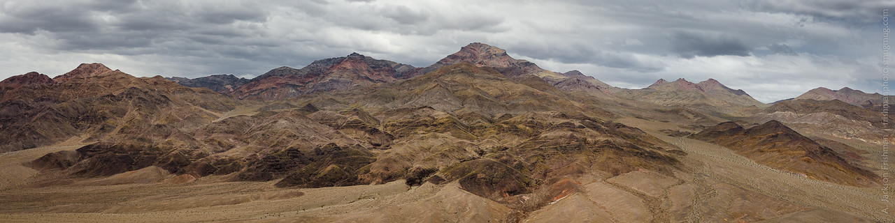 Panorama of the southern Grapevine Mountains, May 2017.