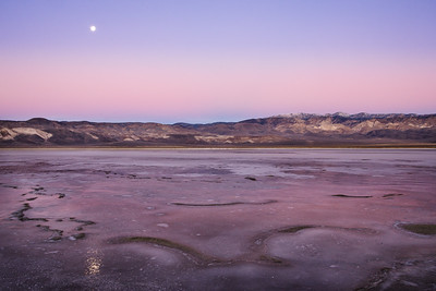 Breaking dawn on the frozen playa of Deep Springs Lake