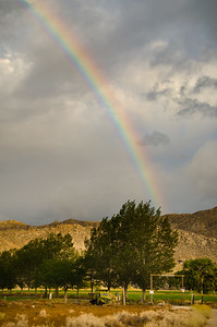 Rainbow over Deep Springs College entrance