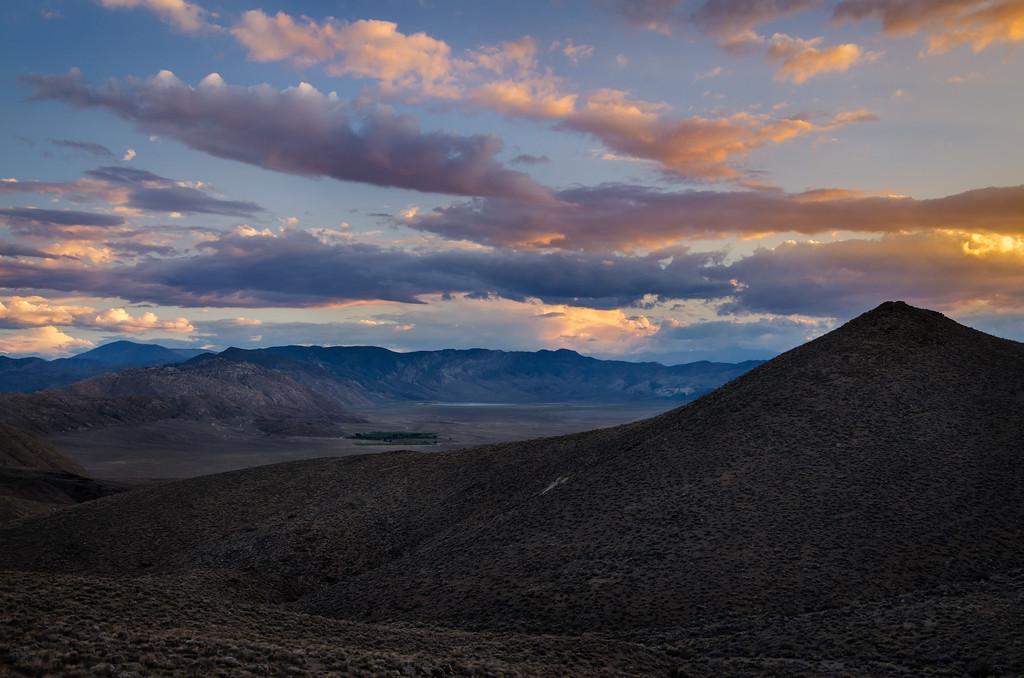 Summer sunset over Deep Springs Valley