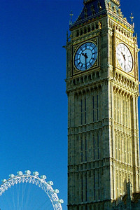 Big Ben at Parliament, City of London, England