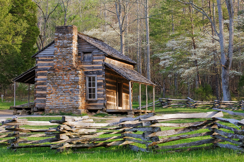 Cabin in Cades Cove Great Smoky Mountains National Park, TN