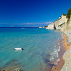 Perulades beach on island of Corfu,Greece