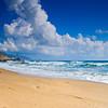 Glifada beach on Corfu island Greece