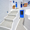 Traditional Greek house in Oia village on Santorini island, Greece