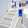 Traditional Greek house in Oia village on Santorini island, Greece