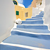 Stairs in Oia village on Santorini island, Greece