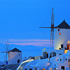 Windmill in Oia village on Santorini island, Greece