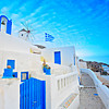 Church in Oia village on Santorini island, Greece