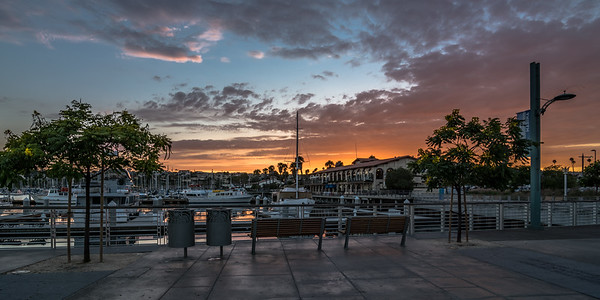 Sunset in The Marina