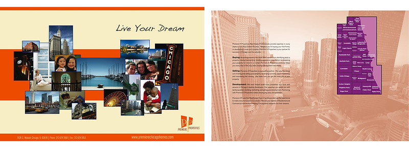 This was a pocket folder I designed for a real estate company in Chicago.