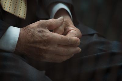The hands of retired General Héctor Mario López Fuentes.  2011