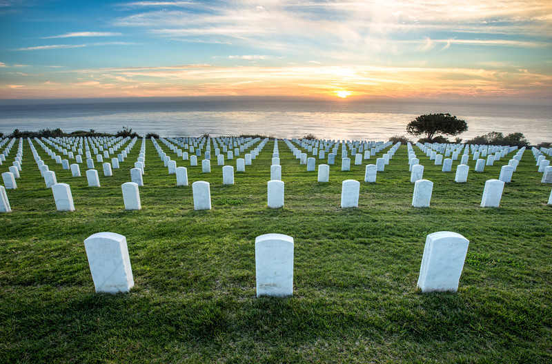 Grave Sunset in San Diego