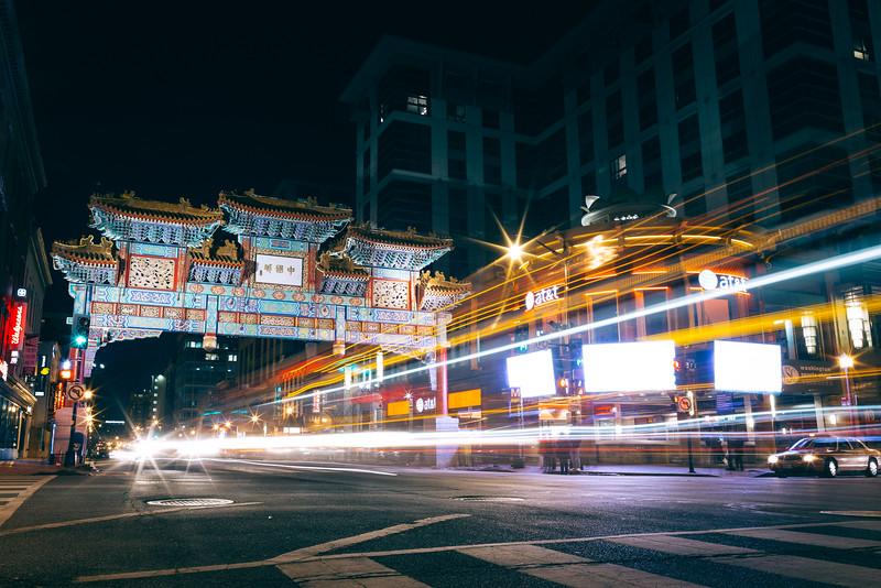 Chinatown Long Exposure in Washington DC