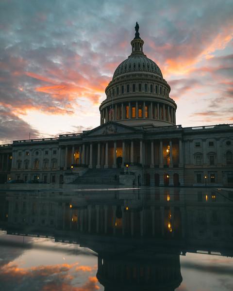 US Capitol Sunset