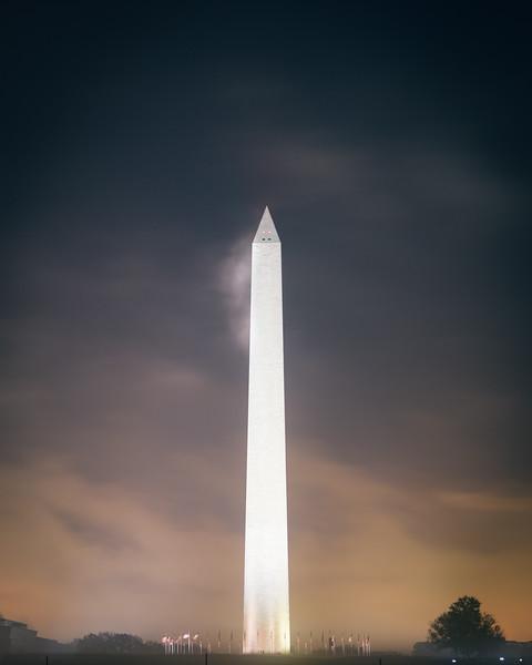 Washington Monument Fog