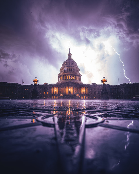 Lightning over the United States Capitol