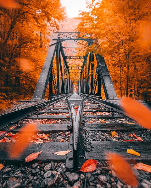 Historic Railroad Trestle in White Mountains New Hampshire