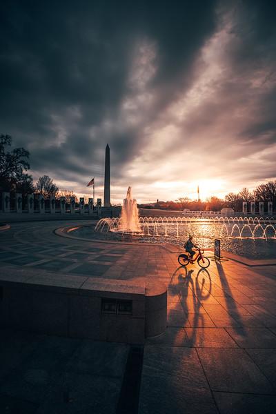 WWII Memorial in DC Sunrise