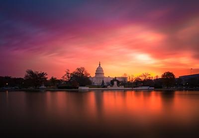 Washington DC Capitol Sunrise