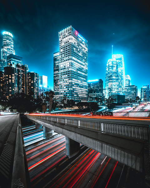 Los Angeles Highways at Night
