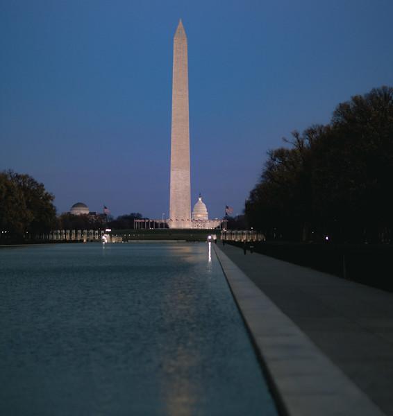 Washington DC Capitol and Washington Monument